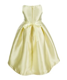 Rare Editions Yellow Beaded Waist High Low Dress  Little Girl