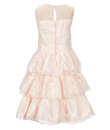 Blush By Us Angels Pink Lace Tiered Dress