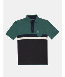 Uspa Green / Black With White Diagonal Stripe