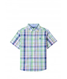 Chaps Yellow/Green/Multi Stripe S/S Shirt