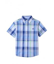 Chaps Blue White/Multi Stripe S/S Shirt