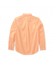 Polo Ralph Lauren Orange / White Check L/S Shirt