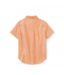 Polo Rl Orange/White Check Ss Shirt