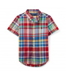 Polo Rl Red/Green/ Blue Multi Ss Shirt