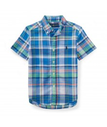 Polo Rl Blue/Green Multi Ss Shirt
