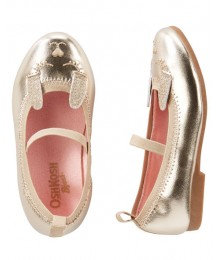 oshkosh gold patent  girls shoes