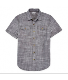 arizona grey linen double front pocket shirt