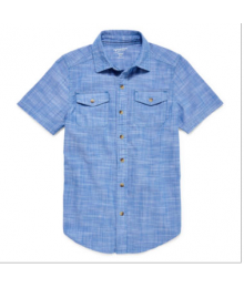 arizona blue linen like double pocket shirt