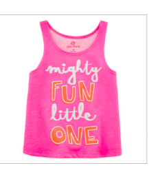 okie dokie pink mighty fun little slevles tee