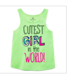 okie dokie green lime cutest girl tee