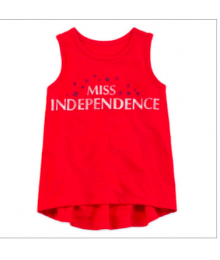 arizona red miss independence hi-low sless tee