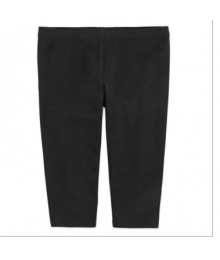 okie dokie black solid capri leggings