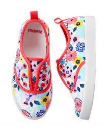 gymboree multi floral sneakers