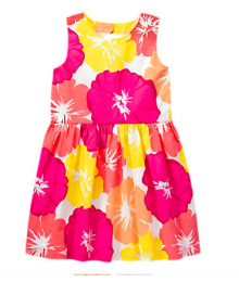 gymboree pink/yellow/white floral dress