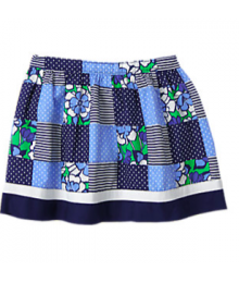 gymboree blue patchwork skirt  Little Girl