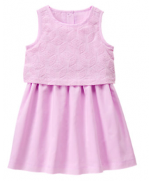 gymboree lilac tiered sleeveless dress