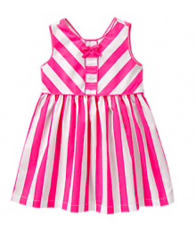 gymboree pink & white stripe dress