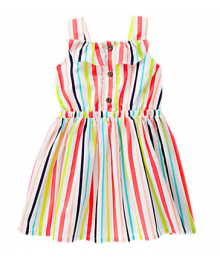 gymboree multi stripe ruffle dress
