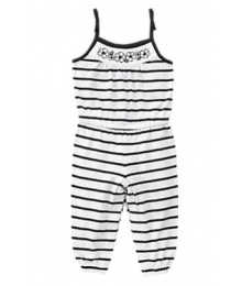 gymboree white and blue striped romper