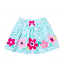 gymboree green/white color petals skirt