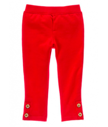 gymboree red knit pants