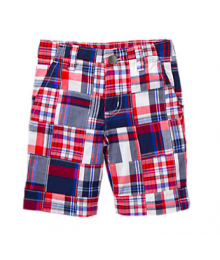gymboree red/blue/white patch shorts