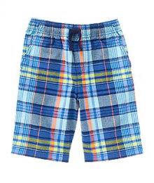 crazy8 blue plaid check shorts