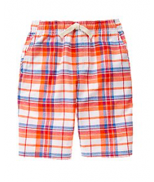 crazy8 orange/white stripe check cargo shorts