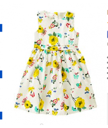 crazy8 white wt ye flower & butterfly dress
