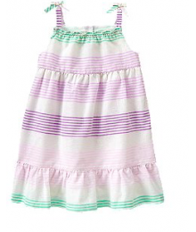 crazy8 white wt lilac stripes sparkle dress Baby Girl
