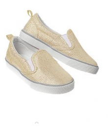 crazy 8 gold metallic slip on sneakers
