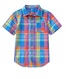 crazy8 multi check shirt