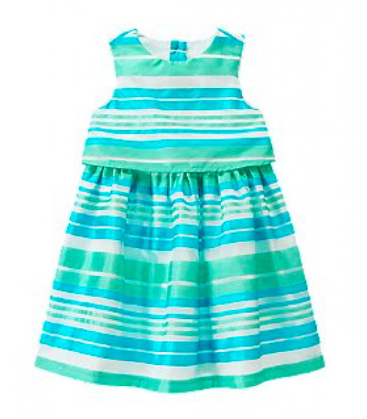 crazy8 green/whitestripe double layer dress