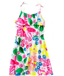 crazy8 multicolor ruffle dress