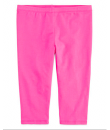 okie dokie pink solid capri leggings