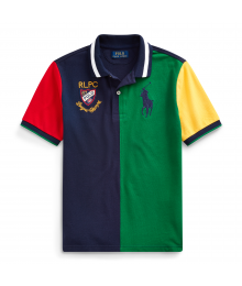 Polo Ralph Lauren Green/Navy Colorblock Polo Shirt