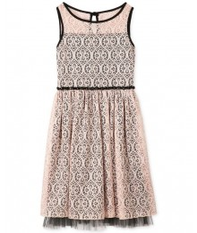 Speechless blush/black lace girls dress