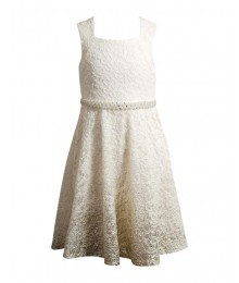 Emily west ivory gold embellished ombre girls dress