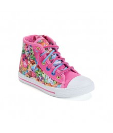 Shopkins pink/multi girls hi-top sneakers
