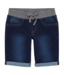Arizona bermuda dark fade blue short wt gray band