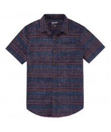 arizona grey wt brown print shirt - Husky