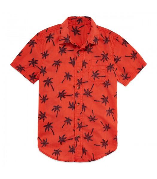 arizona orange wt black palm tree shirt husky