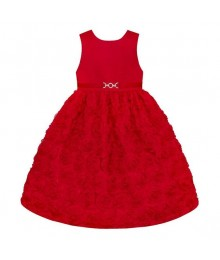 American princess red floral soutache dress  Baby Girl