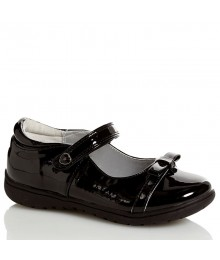 nina black patent wt buckle girls shoes