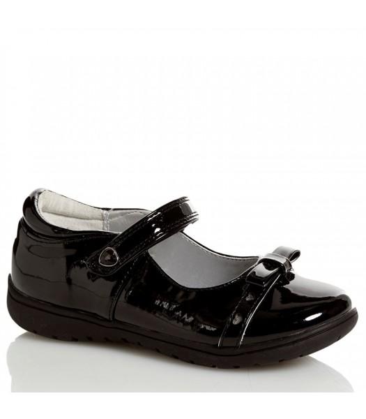 nina black patent wt buckle girls shoes