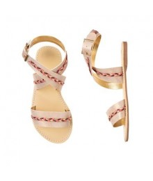Gymboree Gold Metallic Braid Sandals