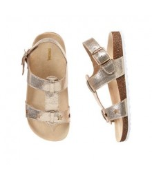 Gymboree Gold Shimmer Star Sandals