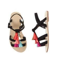 Gymboree Black Tassel Sandals