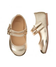 Gymboree Gold Buckle Flat Shoes Shoes