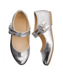 Gymboree Silver Buckle Flat Shoes